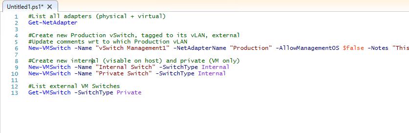 4 Create vSwitch via PS Code