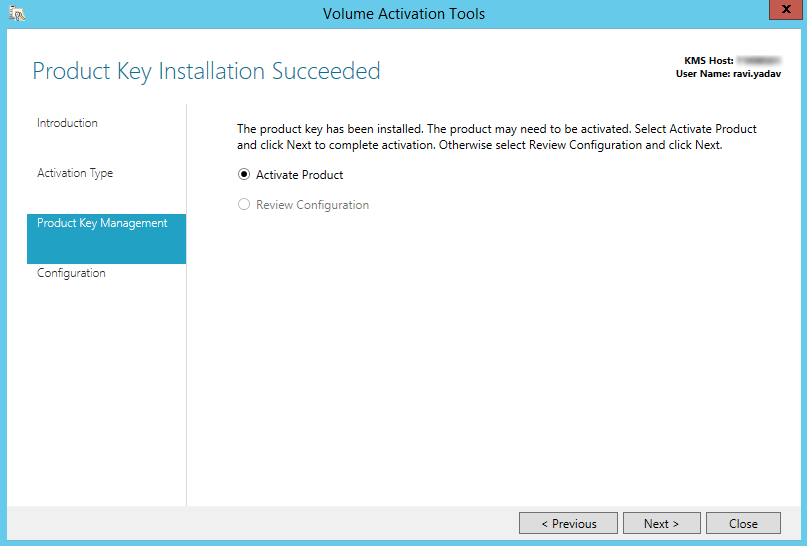 windows server 2012 r2 phone activation