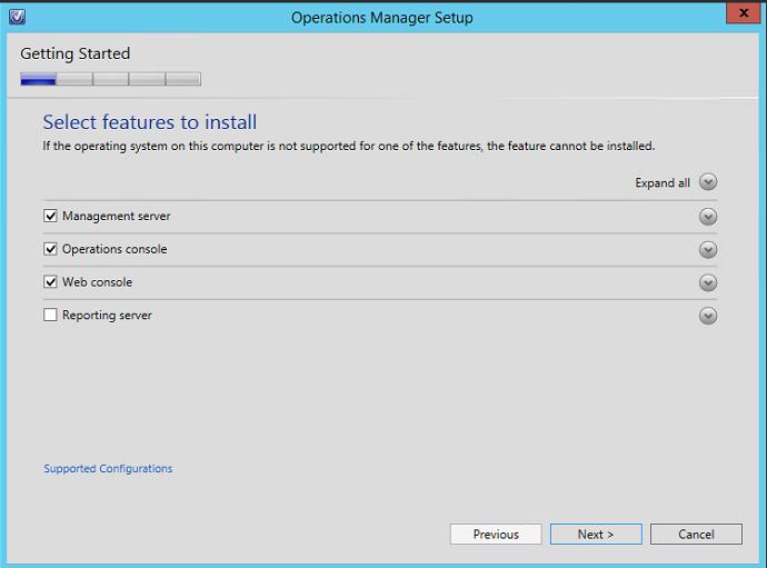 Installing System Center Operations Manager (SCOM) 2016 Step