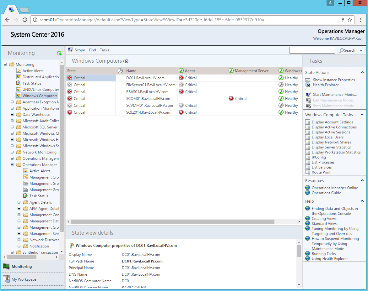 Scom 2016 web console face off scom other geeky stuff for Consol service