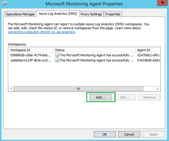Dual-Homing OMS/Microsoft Monitoring Agent (MMA) – SCOM ...