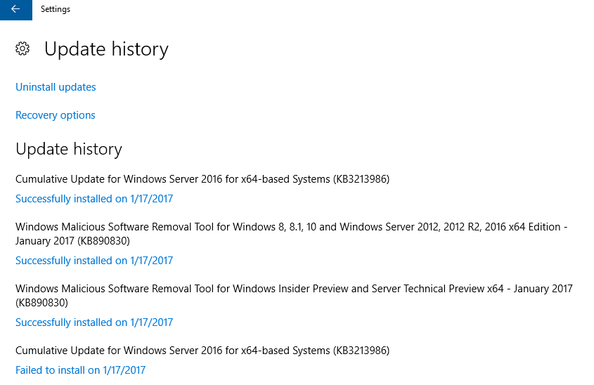 update-history-on-server