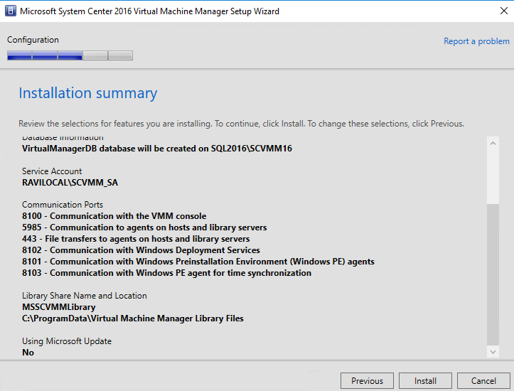 Step-by-Step – Installing System Center Virtual Machine
