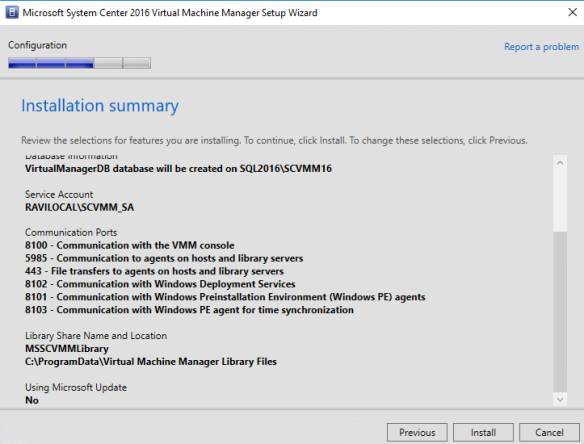Step-by-Step – Installing System Center Virtual Machine Manager