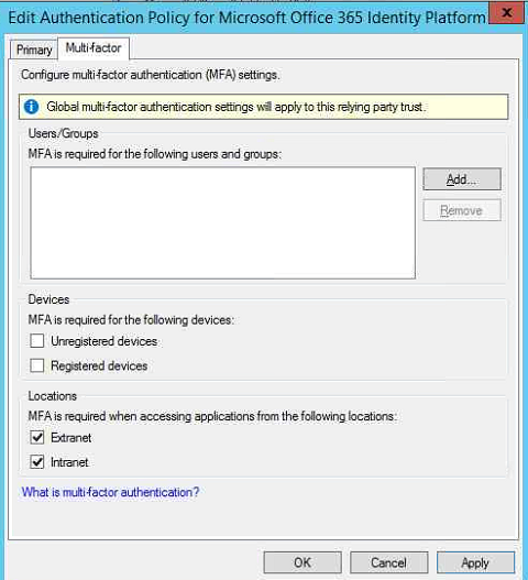Configuring RSA Authentication Agent for ADFS 3 0 + Office