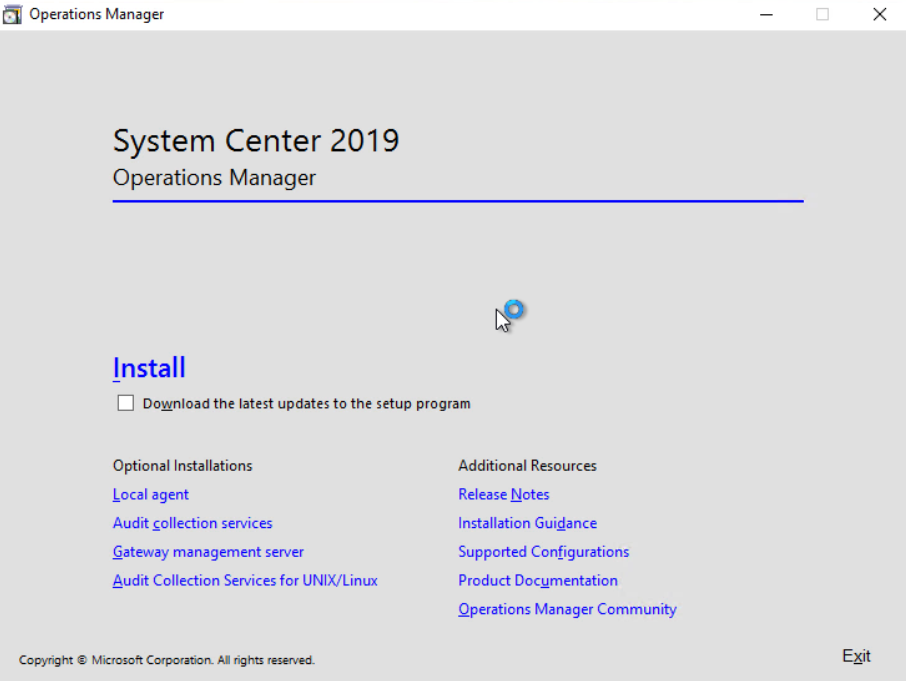 Step-by-Step – Installing System Center Operations Manager